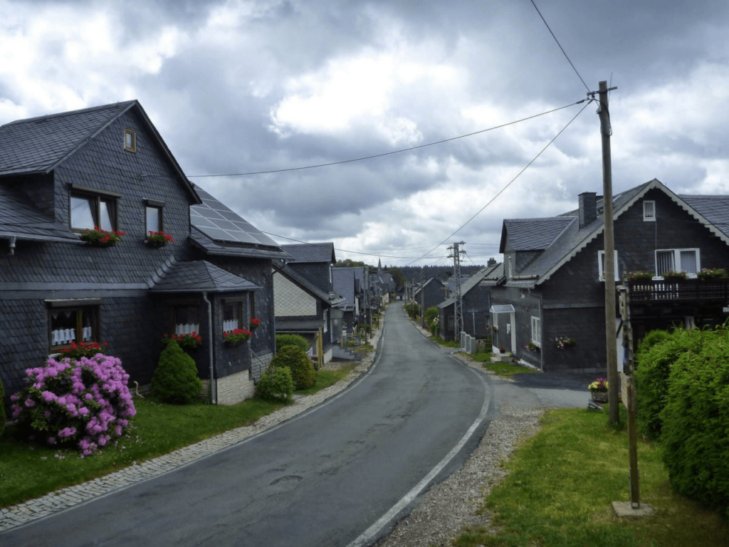 Schieferhäuser bei Brennersgrün