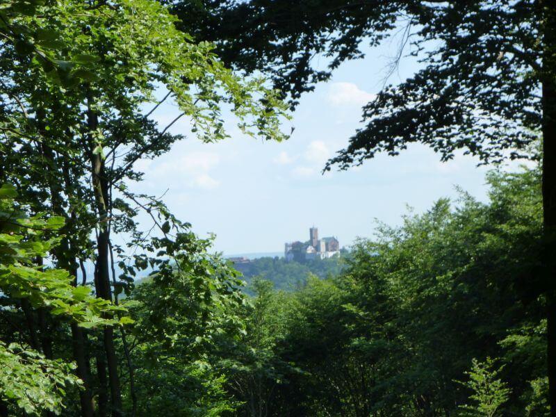 Blich auf die Wartburg in Eisenach