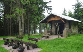 Schutzhütte auf dem Rennsteig